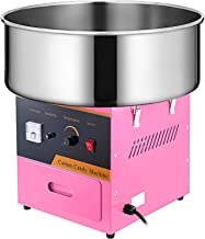 VBENLEM Commercial Cotton Candy Machine 20.5 Inch Electric Cotton Candy Machine Pink Candy Floss Maker 1030W for Various P...
