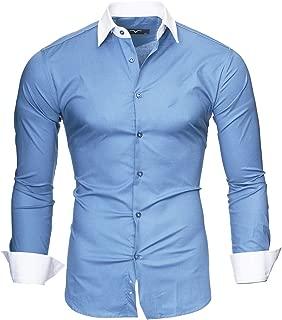 Hombre Camisa Manga Larga Slim Fit S M L XL 2XL - Modello Mailand