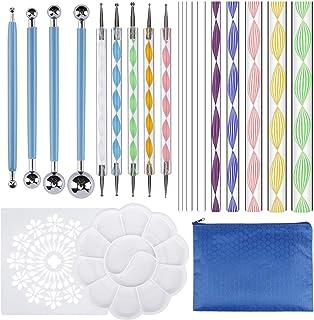 Mandala Outils de Dotting, Mandala Peinture Pochoir Kits pour Peinture Rochers avec Plateau de Peinture pour Mandala Art, ...