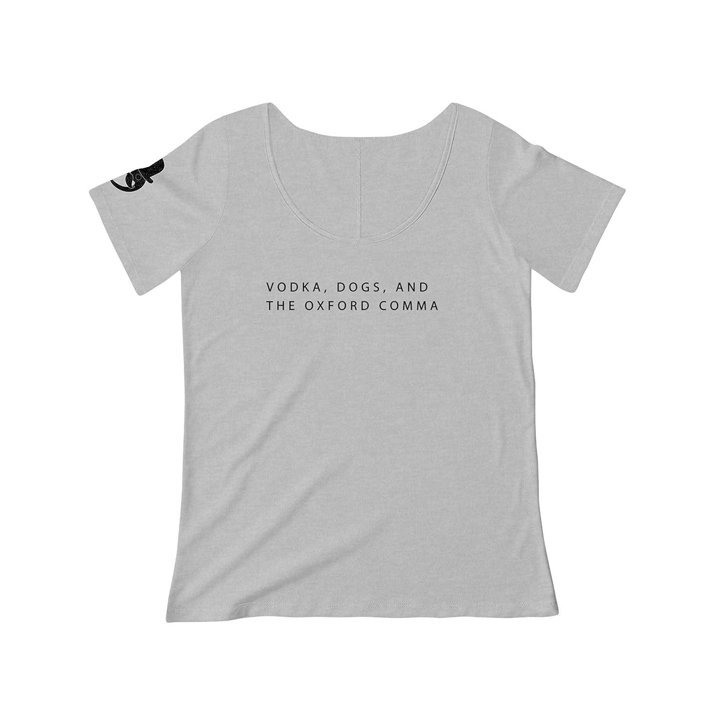 Vodka, Dogs, Oxford Comma Funny Grammar English Teacher Scoop T-Shirt