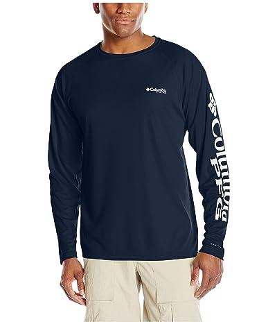 Columbia Terminal Tackletm L/S Shirt (Collegiate Navy/White Logo) Men
