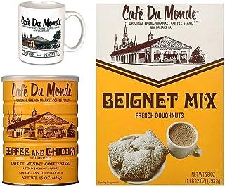 Cafe Du Monde Gift Set - Coffee, Beignet Mix, Mug - Boxed Set