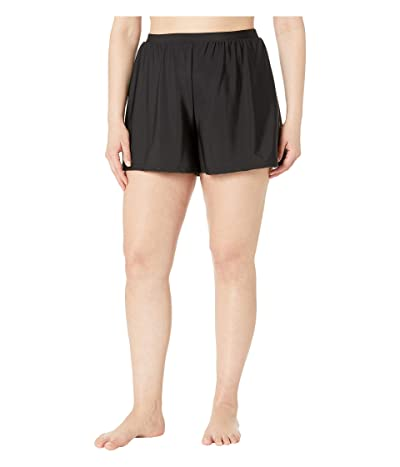Miraclesuit Plus Size Swim Shorts (Black) Women