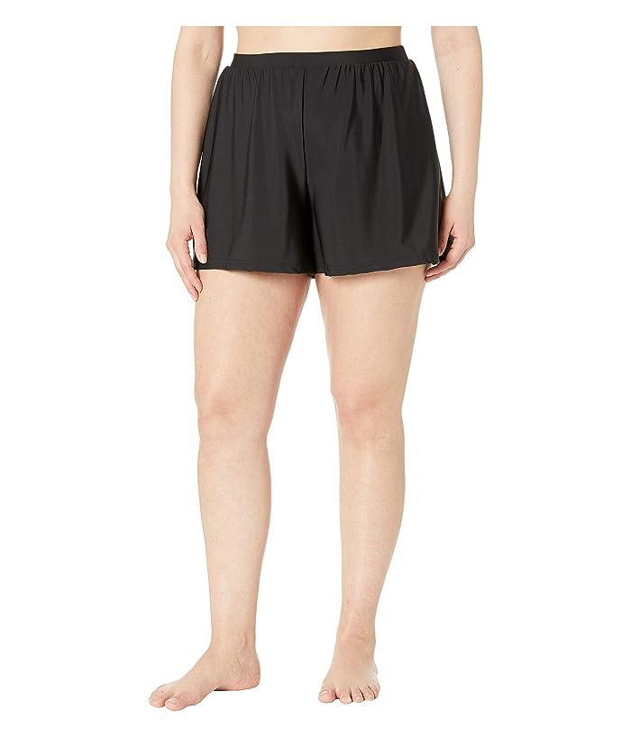 Miraclesuit Plus Size Swim Shorts (Black) Women