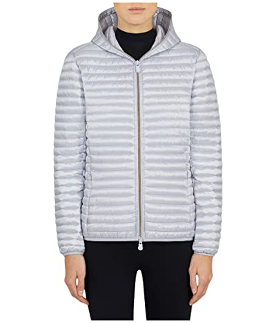 Save the Duck Iris Hooded Jacket (Crystal Grey) Women