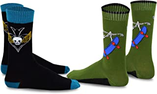 TeeHee Novelty Crew Socks 2-Pack