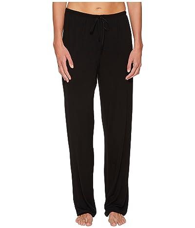 Donna Karan Modal Spandex Jersey Long Pants (Black) Women