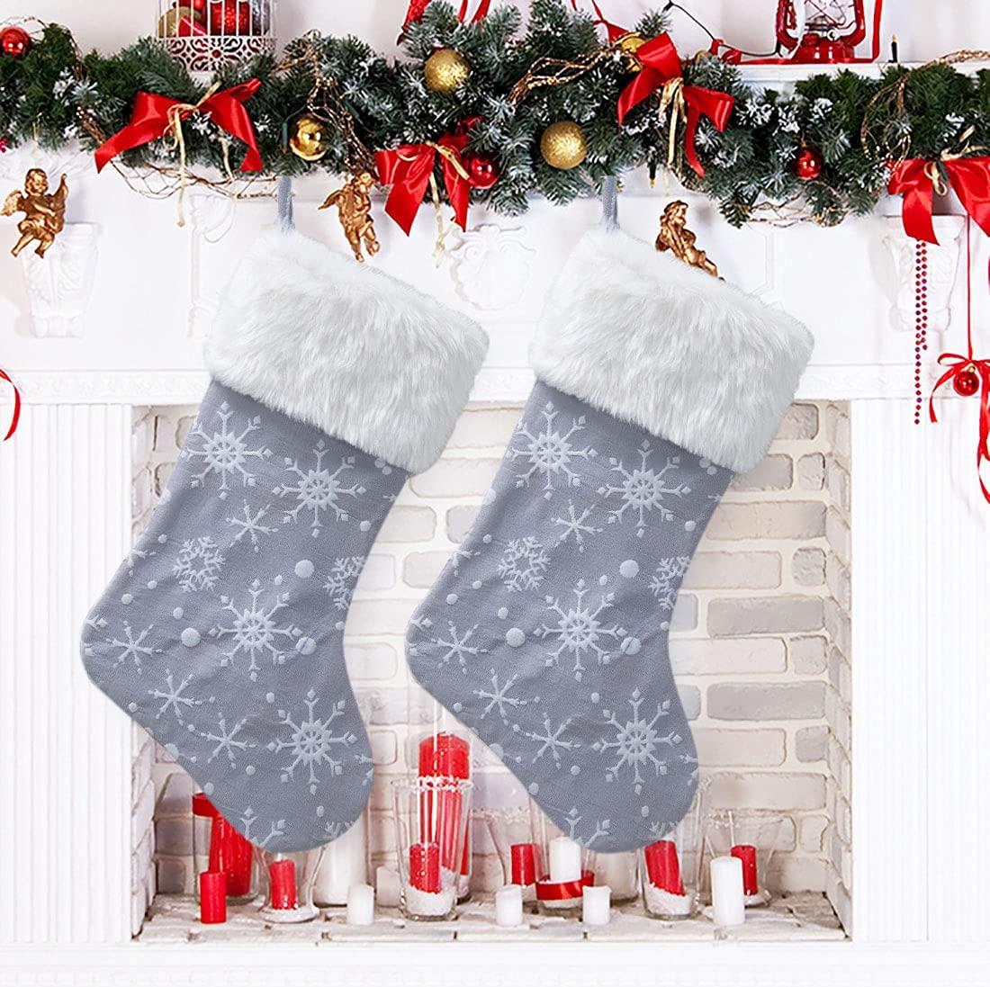 IOORD 2 Pack 40% OFF Cheap Sale Large Plush Lovely Popular popular Stockings Christmas S Embroidery