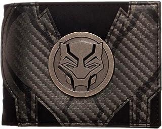 Marvel - Black Panther - Bi-Fold Black Wallet with Metal Badge