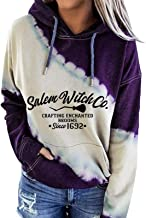 $22 » Letdown Accessories Women Hooded Sweatshirts Fashion Christmas Letter Print Color Block Leisure Pullover Sweater Drawstrin...