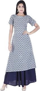 Desier Women's Cotton Skirt Set Kurta