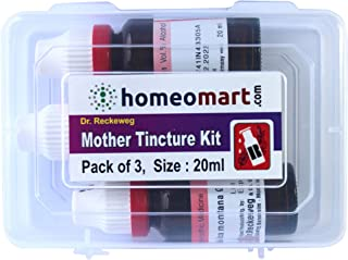 Nux Vomica Q, Homeopathic Mother Tincture Kit, Value Pack of 3 from Dr Reckeweg Germany (20ml Each)