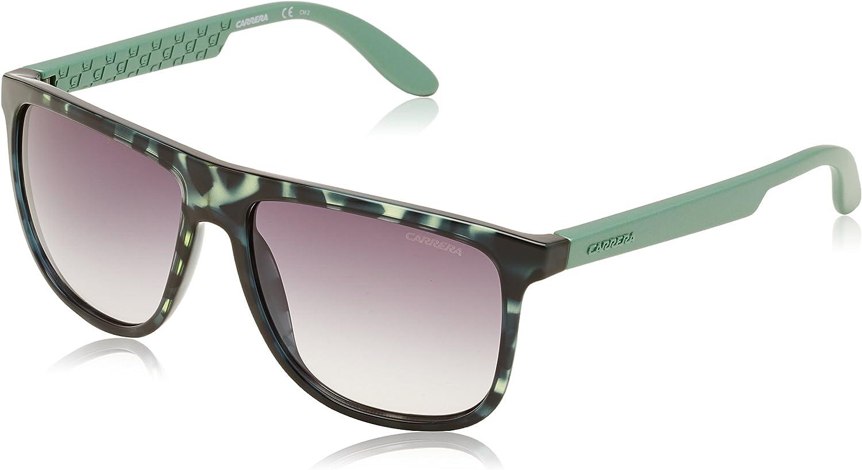 Carrera 5003 DER9C Havana Green Grey Shaded Sunglasses