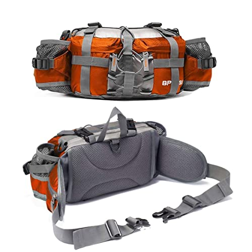 Bp Vision Outdoor Fanny Pack Hiking Camping Fishing Waist Bag 2 Water  Bottle Holder Lumbar Pack 14365ad3315a2