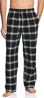 CQR Men's 100% Cotton Plaid Flannel Pajama Pants, Brushed Soft Lounge & Sleep PJ Bottoms with Pockets