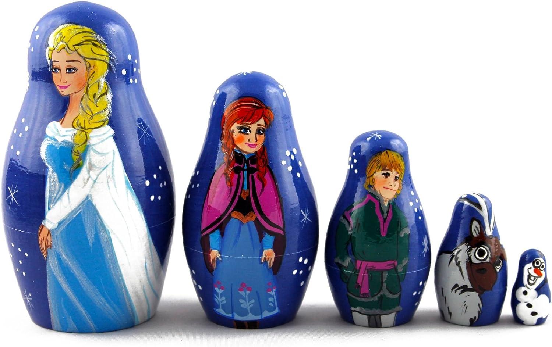 Matryoshka Matrioska Babuska Russian Frozen Max 87% OFF Wooden Translated Doll Nesting