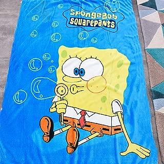 INNOLITES Cartoon Blanket Throw Spongebob Printing Cover Flannel Super Soft Plush Sherpa Beach Blanket for Adults, Boys, Girls, Kids