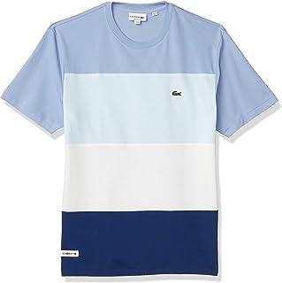 Men's Short Sleeve Relax Fit Colorblock Pique T-Shirt
