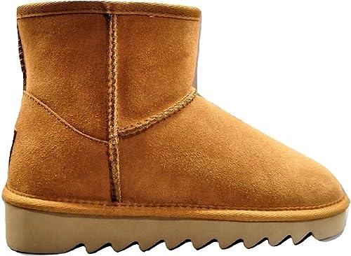 Colors of california - botas de Ante para mujer Beige Camel