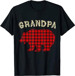 Mens GRANDPA BEAR Family Pajamas Matching Christmas Pajama PJs T-Shirt