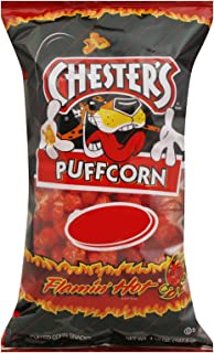Chester's Flamin' Hot Flavored Puffcorn Snacks, 4.5oz Bags (Pack of 12)