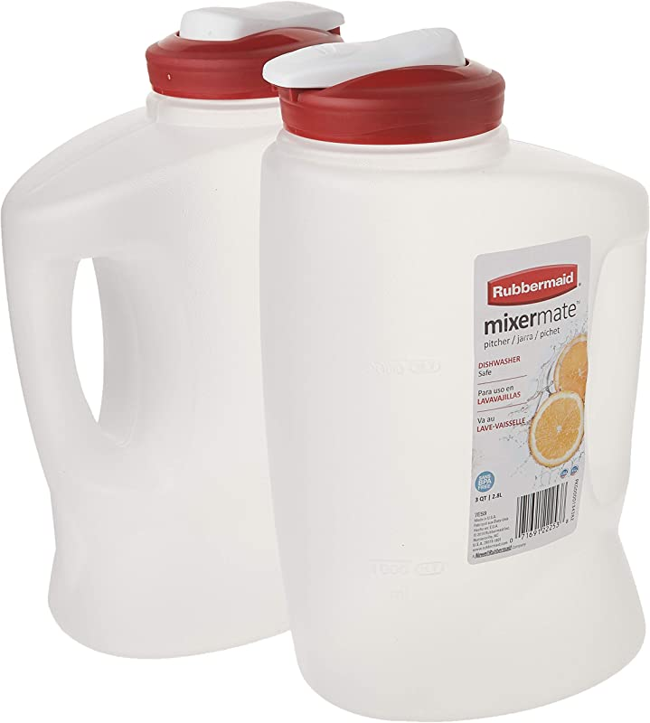 Rubbermaid 085275708066 1776501 3 Qt Seal N Saver Pitcher Bottle Pack Of 2 2 Pack Red