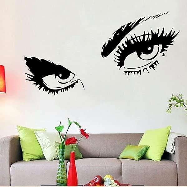 Audrey Hepburn Sexy Eyes Attractive Eye Wall Decal Art Decor Black Vinyl Sticker
