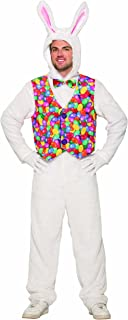 Easter Bunny Adult Jumpsuit with Vest Costume