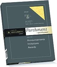 Southworth Fine Parchment Paper, 24 lb, Copper, 100 Sheet Count (P894CK)