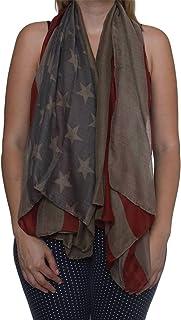 American Flag USA Flag Scarf, Army Green