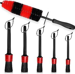6 PCS مجموعه تمیز کردن برس چرخ ، برس 16.5 اینچی بلند موی نرم و برس مختلف و 5 اندازه مختلف کیت مسواک برای شستن چرخ ها