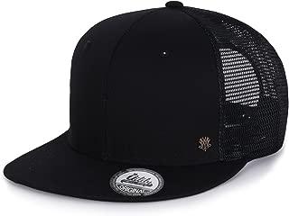 ililily Extra Large Size Solid Color Flat Bill Snapback Hat Blank Baseball Cap
