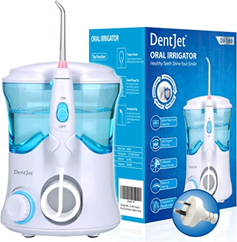 Oral Irrigator Multifunctional Water Flosser for Family, DentJet Professional Dental Care Kit Teeth Cleaner Water Pic...