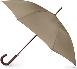 totes Auto Open Wooden Stick Umbrella,  British Tan,  One Size