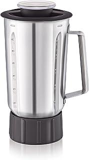 Moulinex Blender Inox XF636DB1 Accessoire Masterchef Gourmet Officiel Capacité 1,5L Résistant Chocs Thermiques Compatible ...