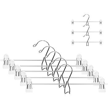 ARIZZ ズボンハンガー スカートハンガー クリップ ハンガー 10本組 幅 30cm 滑り落ち防止 はんがー 1年間保証付き