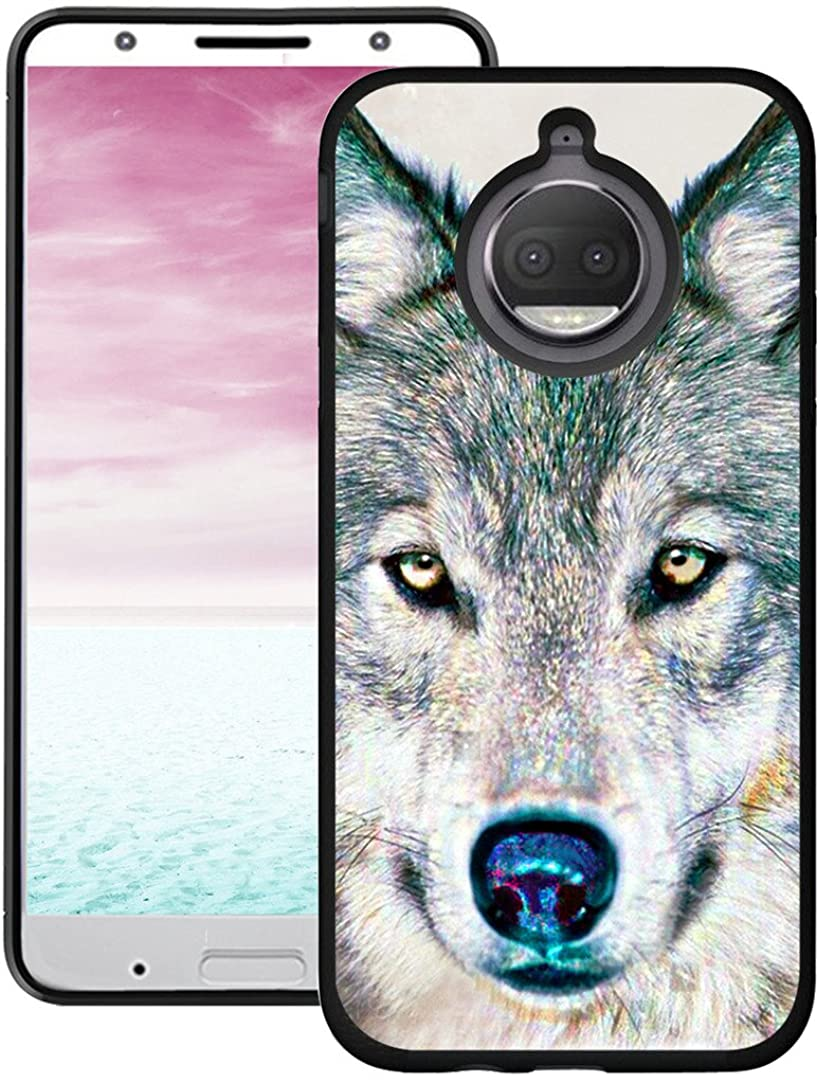 Moto G6 Plus Case Wolf - CCLOT Protective Cover Compatible for Motorola Moto G6 Plus G6+ Cover Protective Hand Painting Wolf Animal Design (TPU Protective Silicone Bumper Skin)