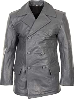 German Grey Leather U-Boat Jacket