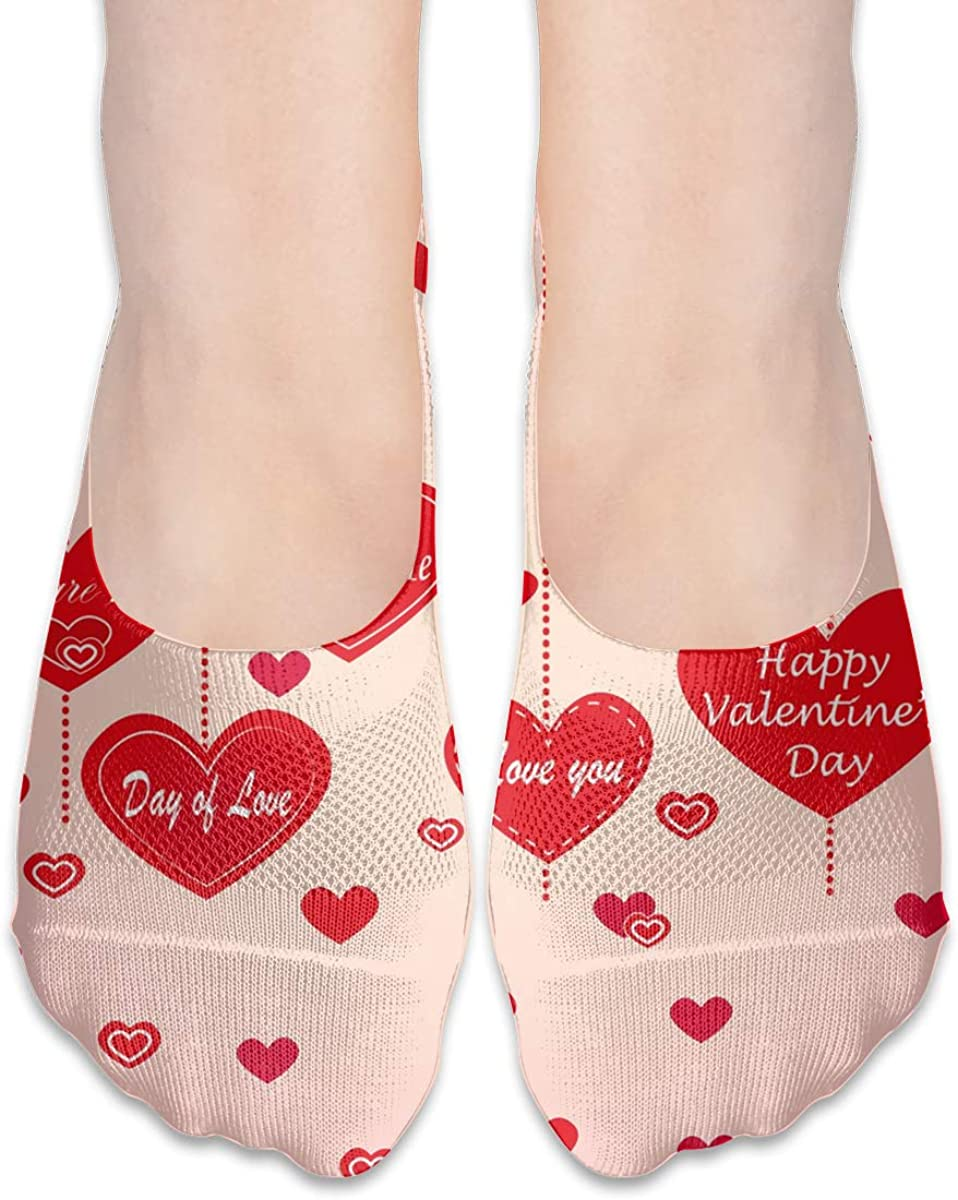 No Show Socks Women Men For Romantic Love Valentine'S Day Flats Cotton Ultra Low Cut Liner Socks Non Slip