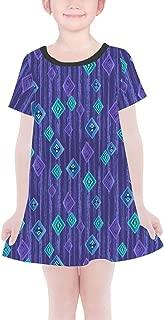 Rainbow Rules Scandinavian Frozen Crystals Girls T-Shirt Dress