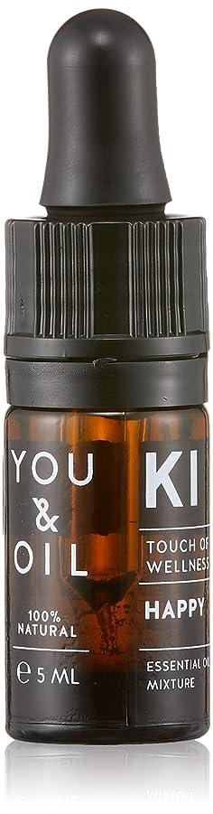 振るう服を着る雑種YOU&OIL(ユーアンドオイル) ボディ用 エッセンシャルオイル HAPPY 5ml