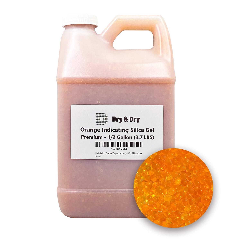 Dry 3.7 LBS Premium Orange Silica Max 84% OFF Gel Desicca Kansas City Mall Indicating