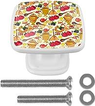 Vierkante kabinet knoppen keuken deur knoppen 4Pack-lade knoppen voor kast hardware schattig fruit