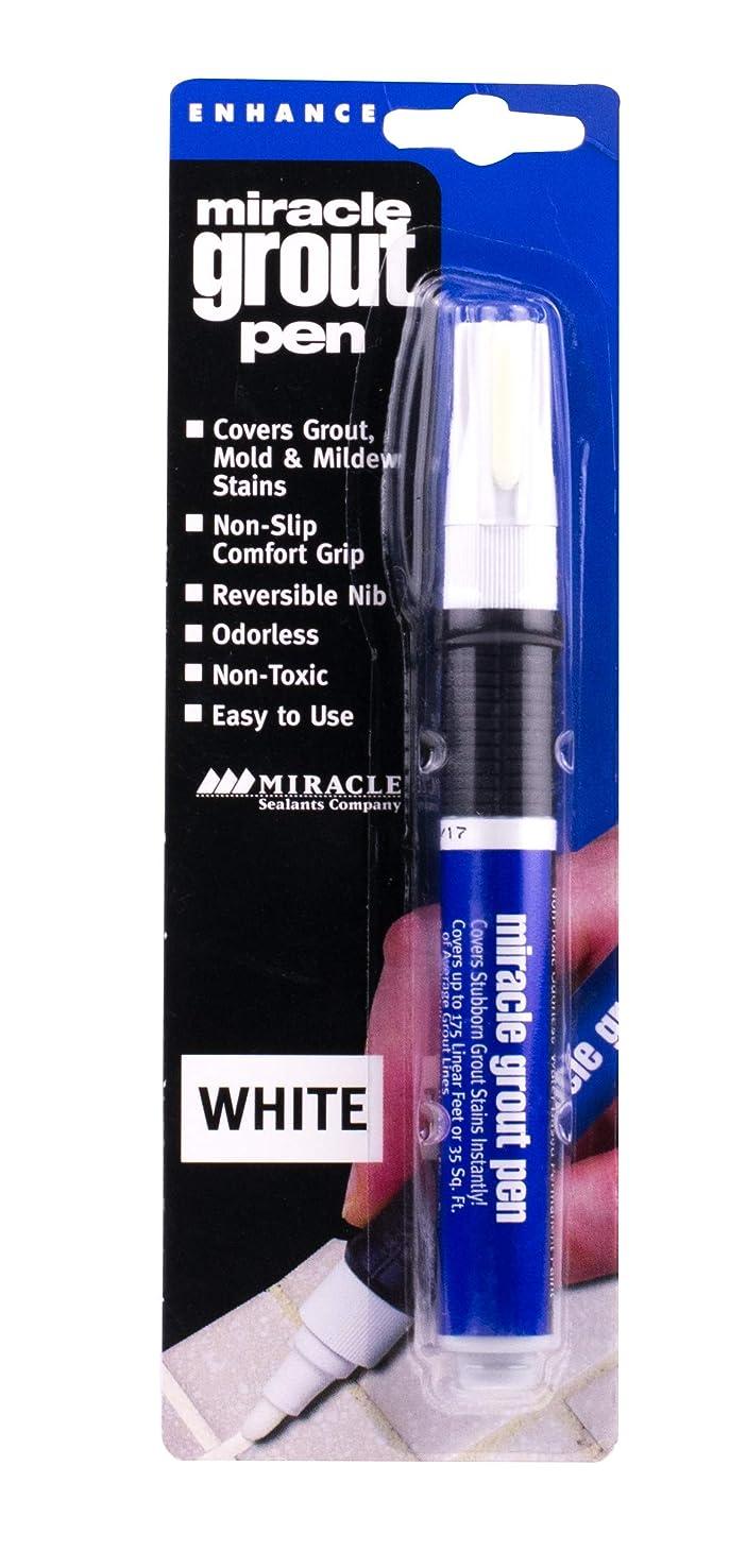 ピルスタイルトレイMiracle Sealants GRT PEN WHT Miracle Grout Pen, White