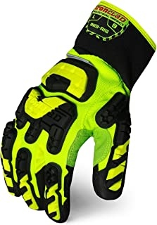 Impact Gloves, L, Slip On Closure, PR