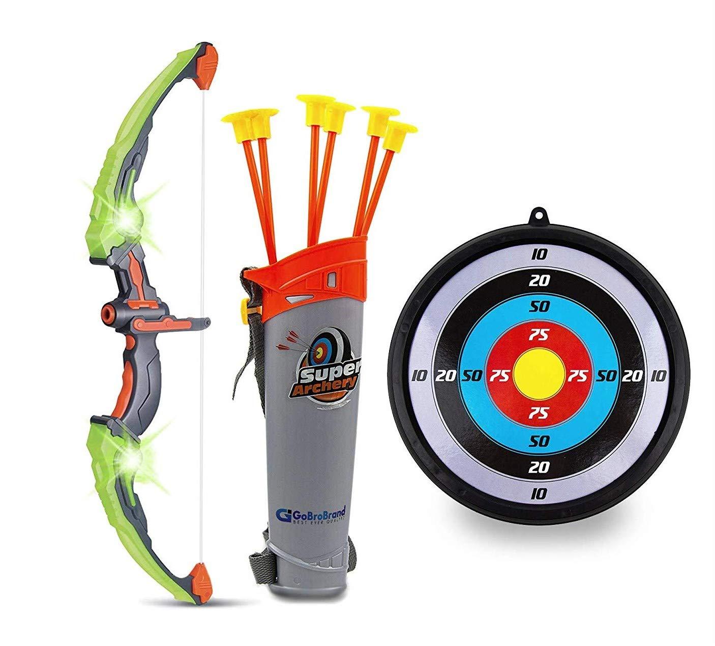 GoBroBrand Green Archery Suction Arrows