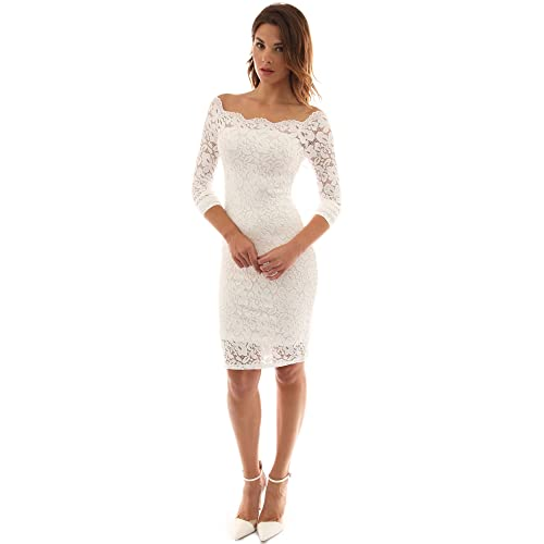 f34683ed9d7cc PattyBoutik Women s Off Shoulder Twin Set Floral Lace Dress