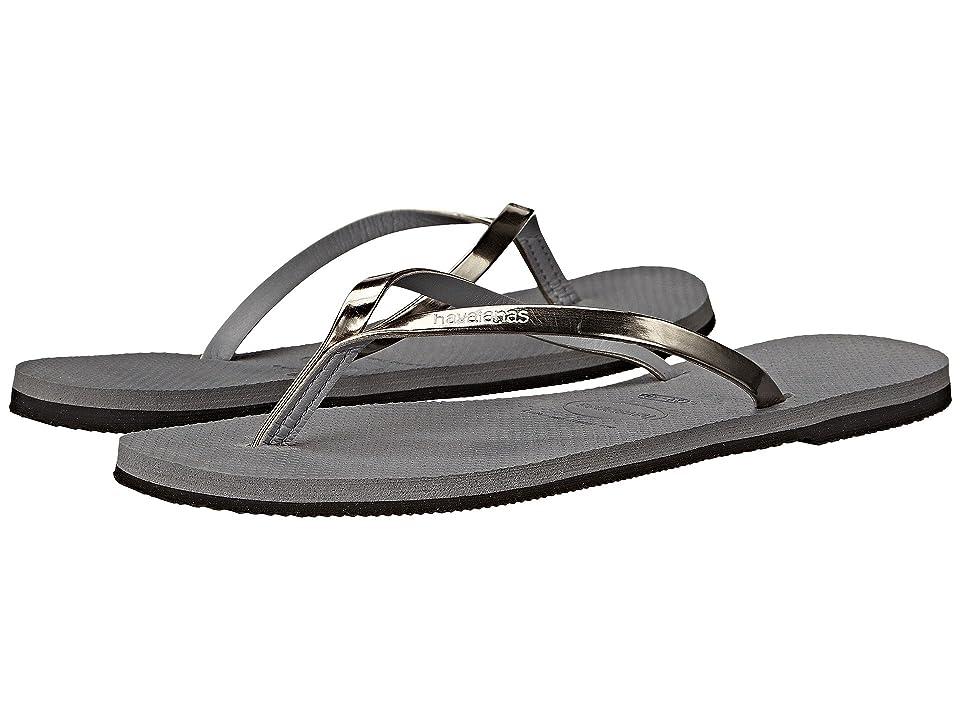 Havaianas You Metallic Flip Flops (Steel Grey) Women
