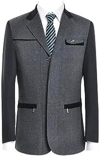 HX fashion Men's Blazer Blazer Leisure Business Wool Suit Jacket Suit Comfortable Sizes Classic Mens Casual Slim Fit Coat ...