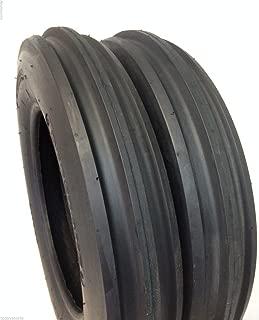 Deestone Two 5.00-15 Rib Tractor Tires with Tubes 500-15 Three Rib
